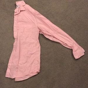 Uniqlo button down pink